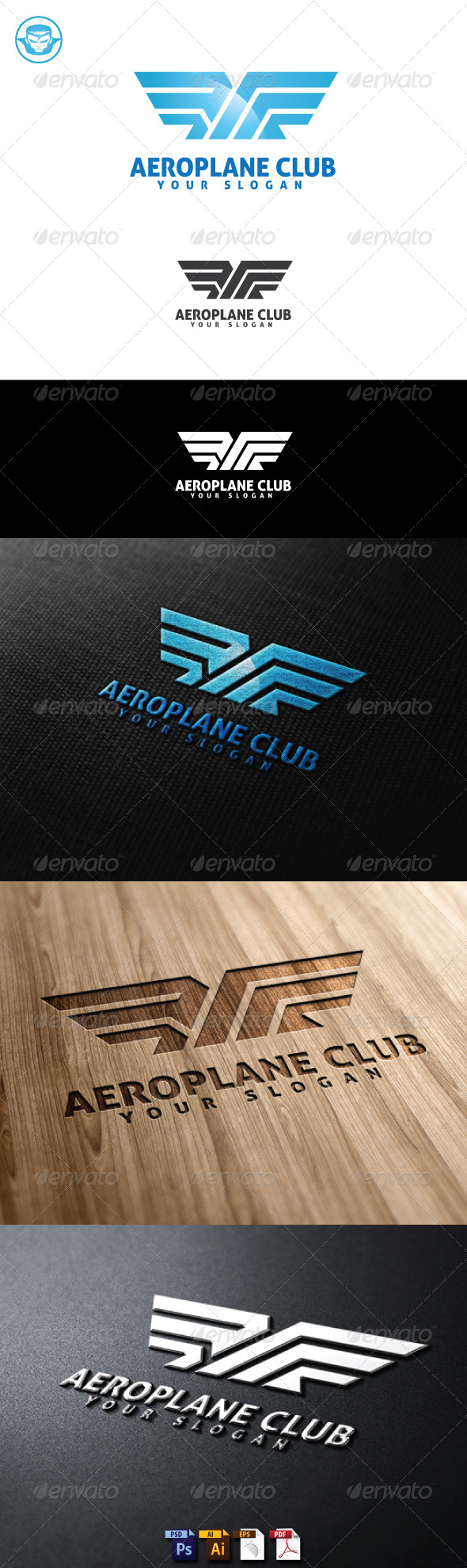 GraphicRiver Aeroplane Club Logo Template 5161530