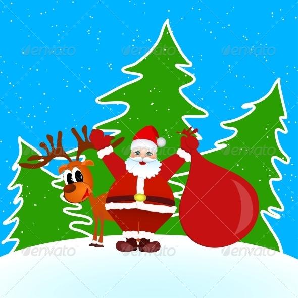 GraphicRiver Santa Claus Merry Christmas 5161833