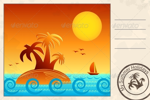 GraphicRiver Summer Postcard 5163054