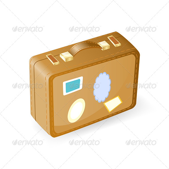 GraphicRiver Vintage Suitcase with Stickers 5163254