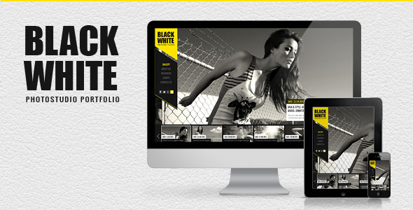 ThemeForest Black&White Responsive Photo Portfolio 5155625