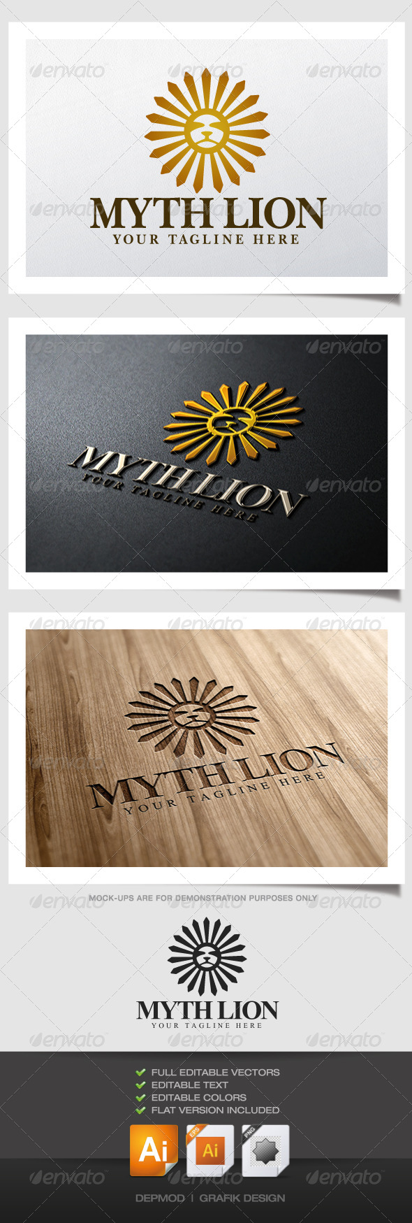 Myth Lion Logo - Animals Logo Templates