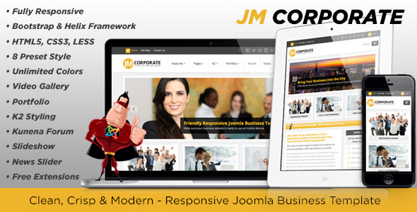 ThemeForest JM Corporate Responsive Joomla Business Template 5163748