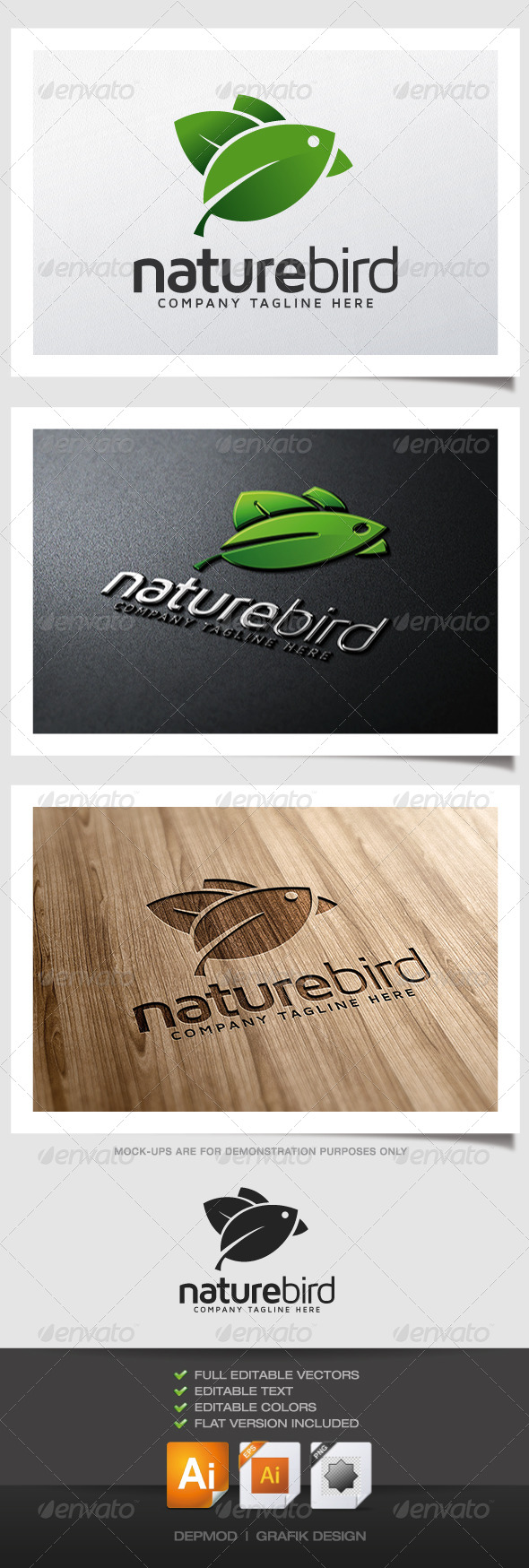 Nature Bird Logo - Symbols Logo Templates