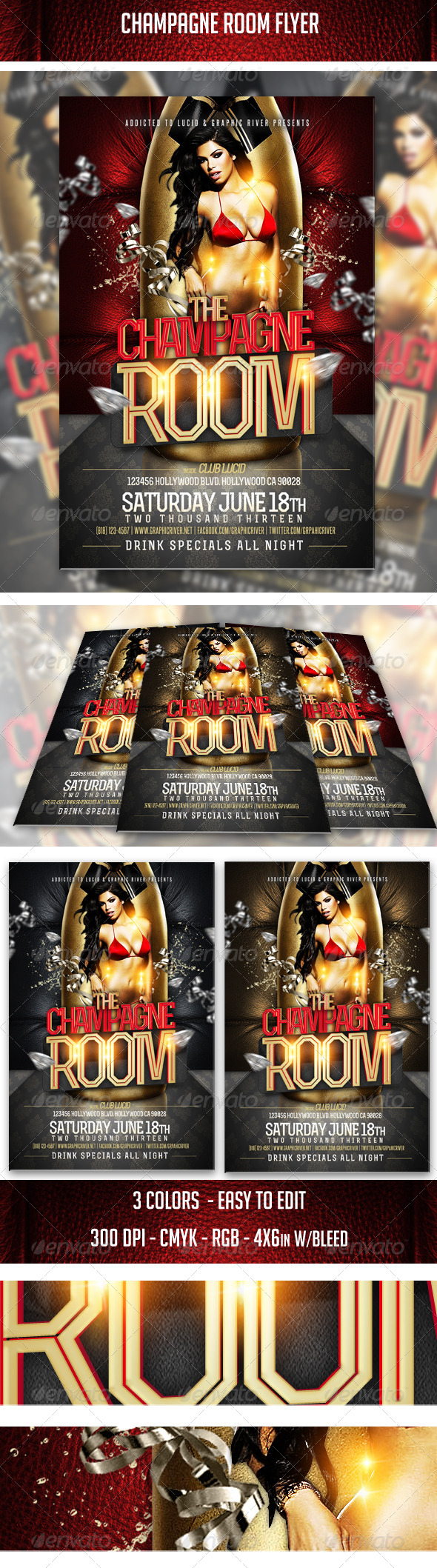 GraphicRiver Champagne Room Flyer 5069457