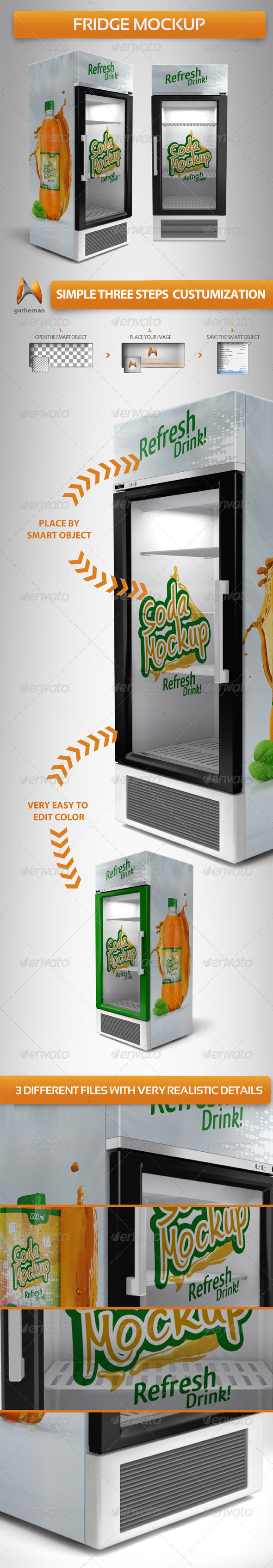 GraphicRiver Fridge Mockup 5136741