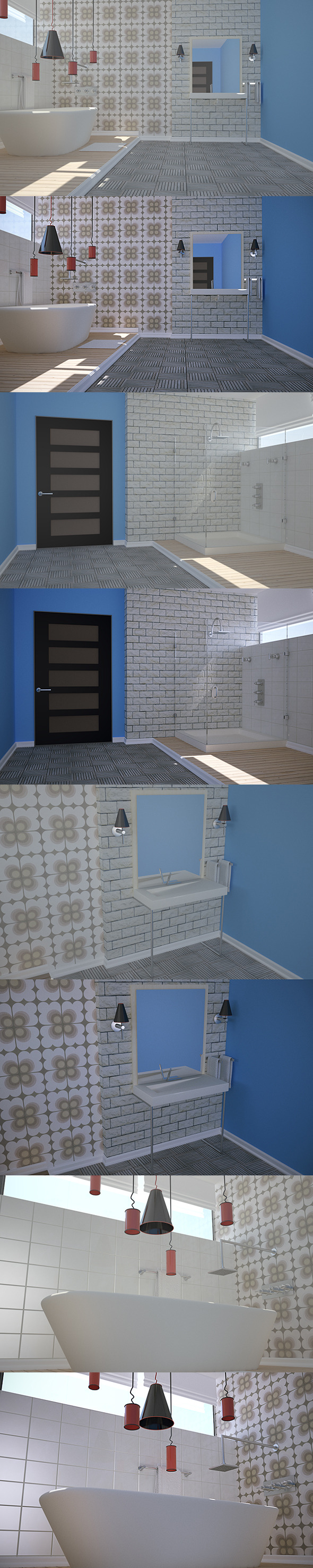 3DOcean Bathroom Design VrayC4D 5130237