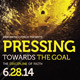 Pressing Towards the Goal Church Flyer Template - GraphicRiver Item for Sale