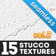 15 Seamless White Stucco Textures Vol.2 - GraphicRiver Item for Sale