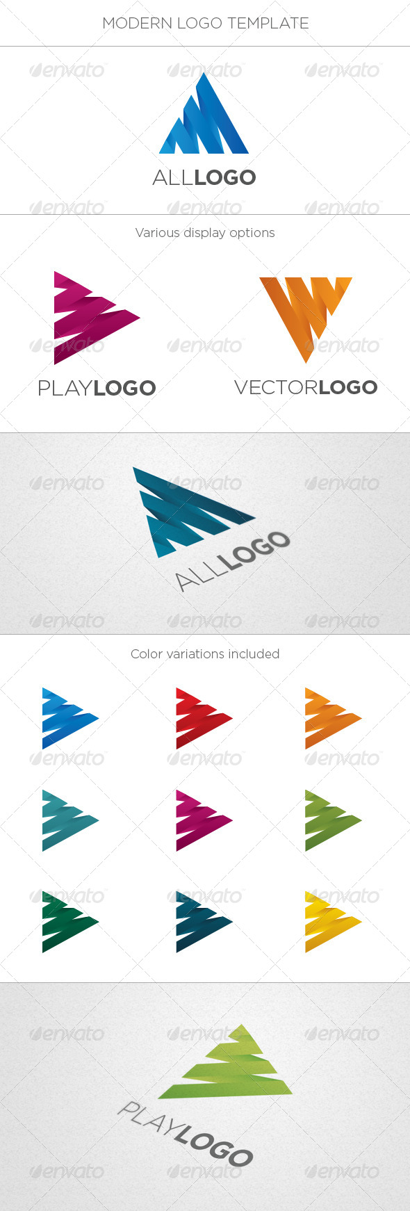 GraphicRiver Play Letter Logo 5157108