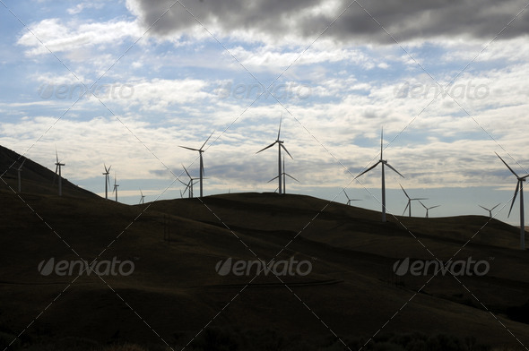 Hill of Wind Generators - Stock Photo - Images