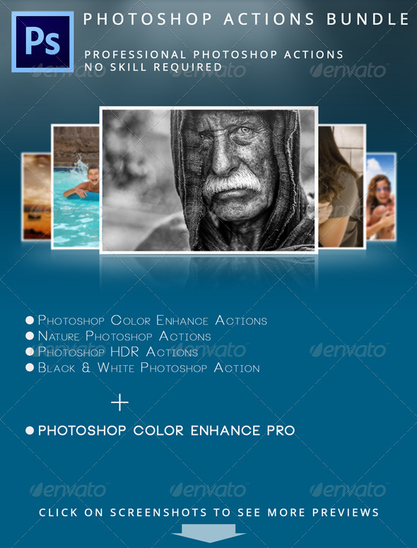 GraphicRiver Photoshop Actions Bundle 5166002