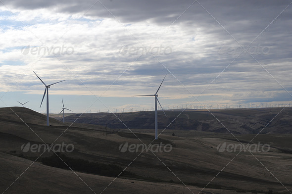 Sunrise Wind Generators - Stock Photo - Images