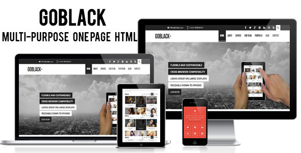 Goblack - Multi-Purpose One Page HTML  Template - Portfolio Creative