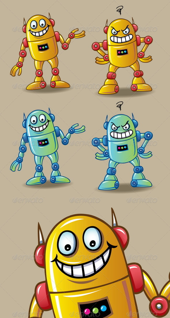 GraphicRiver Robot Character 5166506