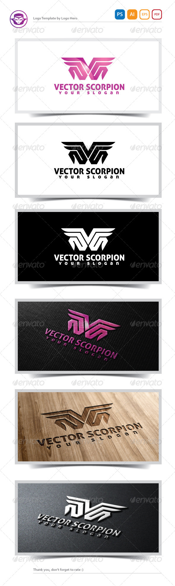 GraphicRiver Vector Scorpion Logo Template 5166916