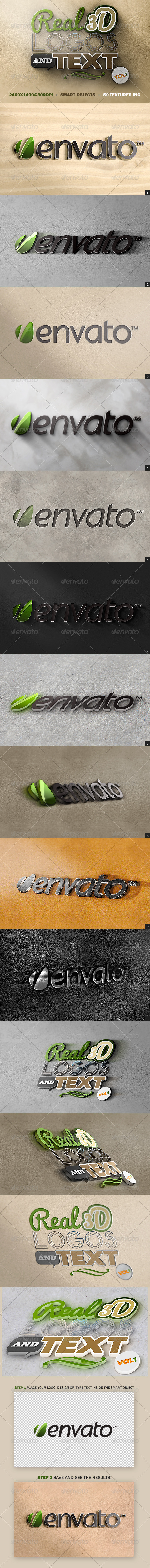 GraphicRiver Real 3D Logos and Text Vol1 5167215