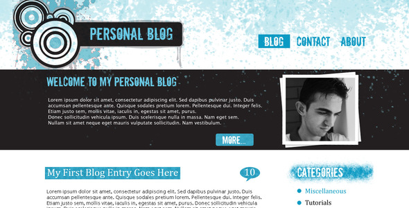 Grunge Blog Template - Miscellaneous PSD Templates