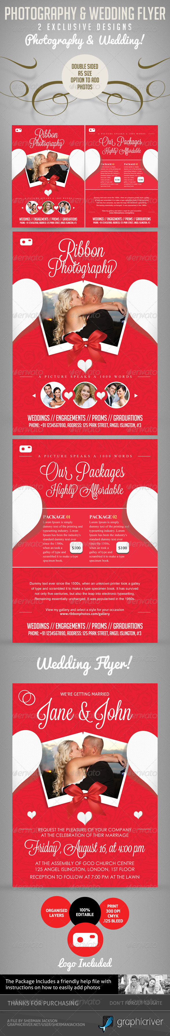 GraphicRiver Pro Photography Flyer & Wedding Flyer 5168365
