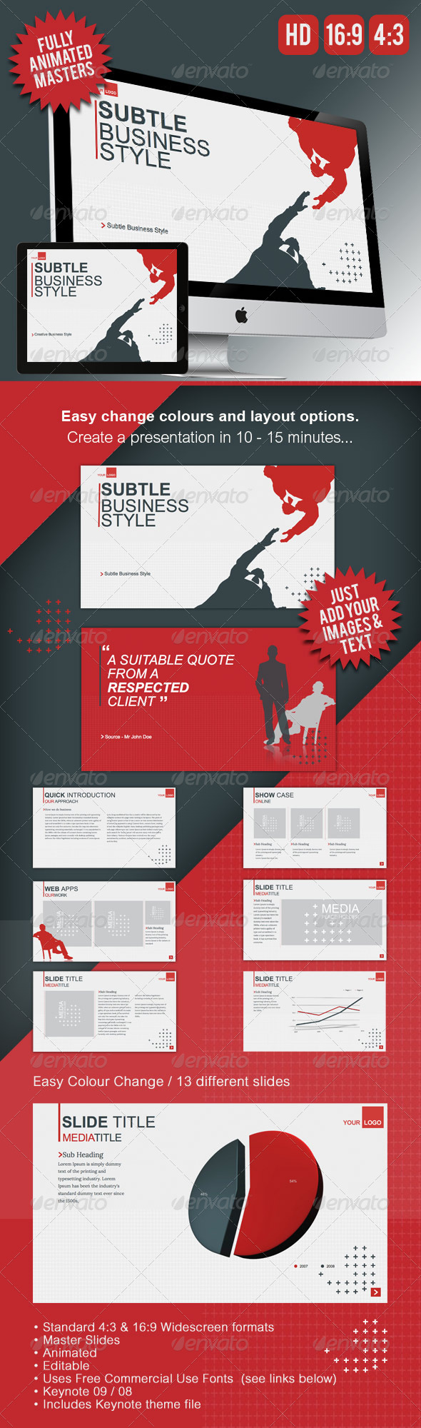 GraphicRiver Minimalist Keynote Presentation Template 5168956