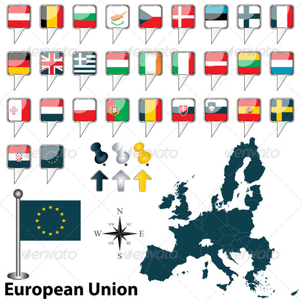 GraphicRiver European Union with Croatia 5169378