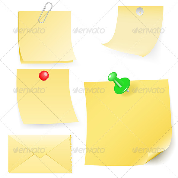 GraphicRiver Disrupt Envelope and Post-It Collection 5163197