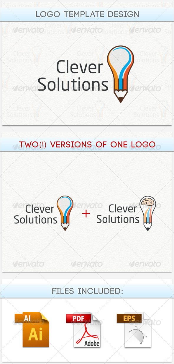 GraphicRiver Clever Solution Logo 5169948