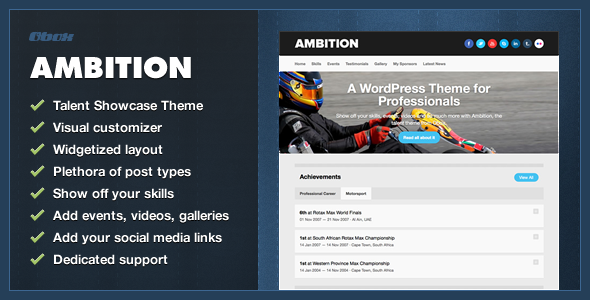 Ambition - WordPress Talent Theme - Personal Blog / Magazine