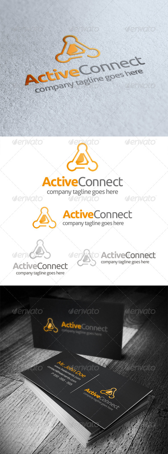 Active Connect Letter A Logo - Letters Logo Templates
