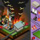 Isometric Fire Disaster in Coal Plant - GraphicRiver Item for Sale