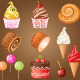 Sweet Pastry Set - GraphicRiver Item for Sale