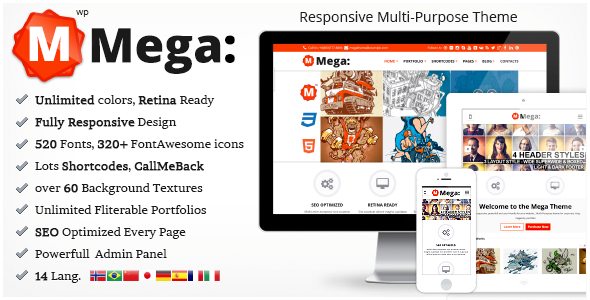 ThemeForest Mega Responsive Multi-Purpose Theme 5150300