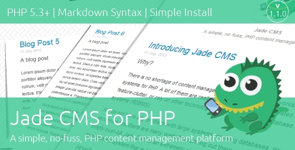 CodeCanyon Jade CMS for PHP 5164234