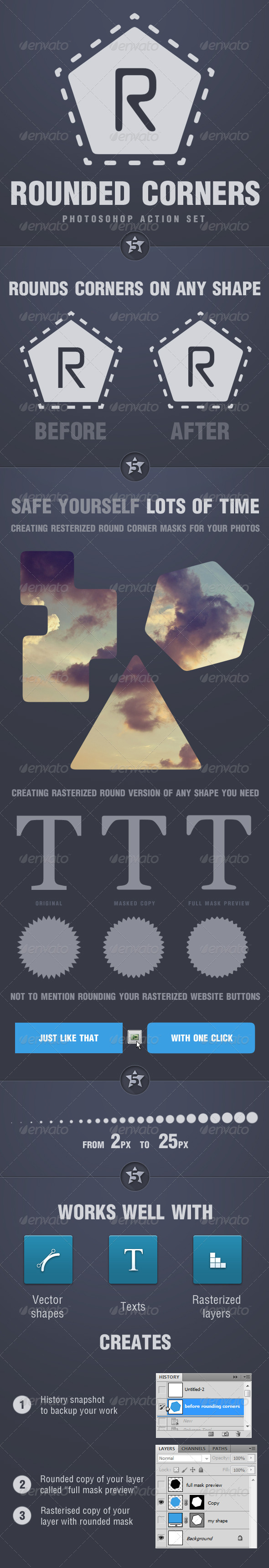 GraphicRiver Photoshop Round Corners Action Set 5171770