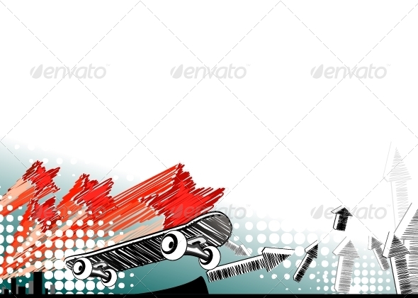 GraphicRiver Skateboarding Background 5171854