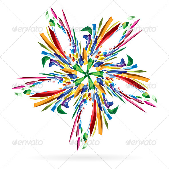 GraphicRiver Abstract Colourful Star 5171916