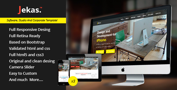 ThemeForest Jekas Responsive And Retina Html5 Template 5172699