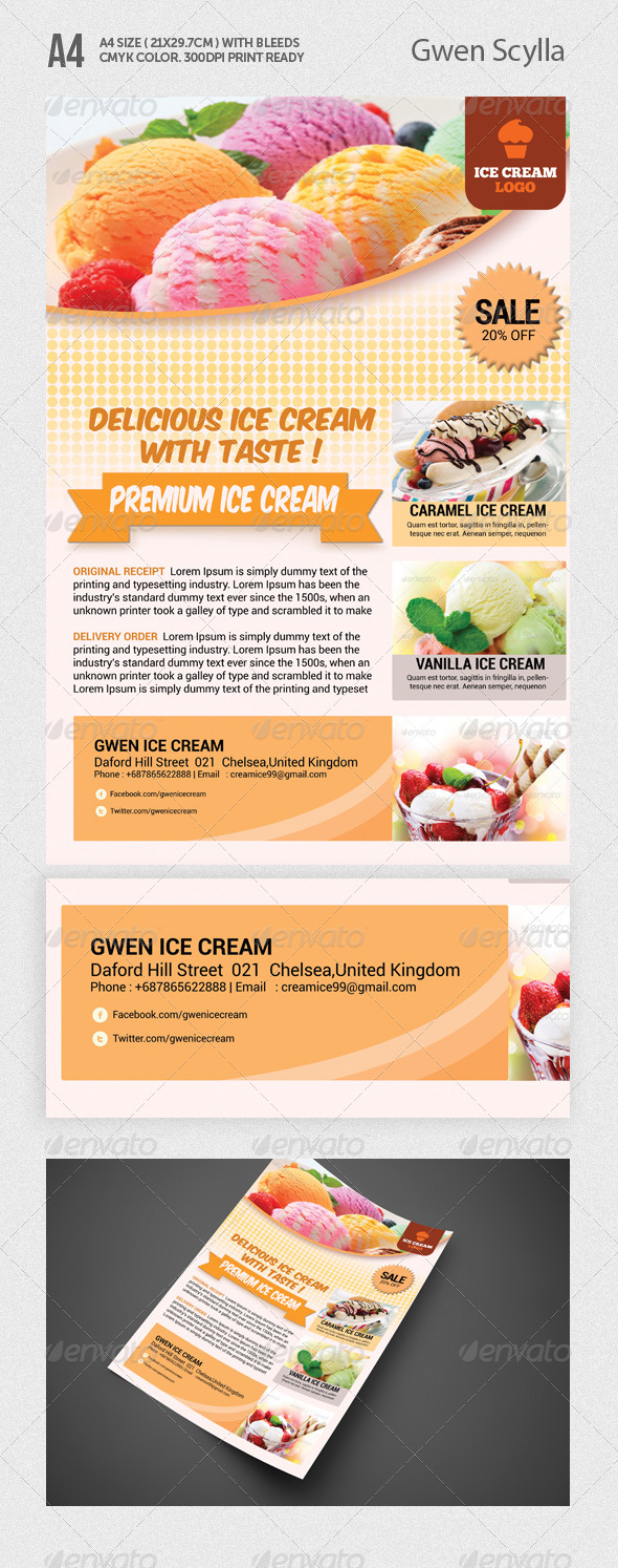 Ice Cream Flyer Templates - Restaurant Flyers