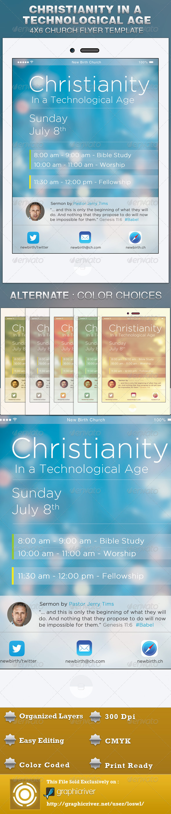 GraphicRiver Christianity In a Technological Age Church Flyer 5172854