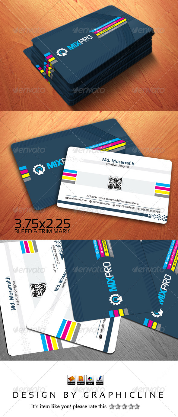 GraphicRiver MIXPRO Creative Business Card Design 5173534