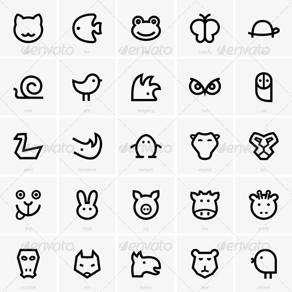 GraphicRiver Animal Icons 5173938