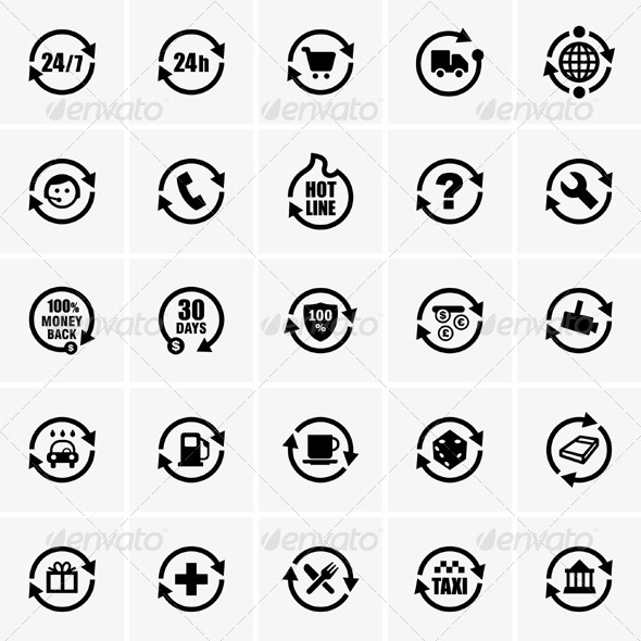 GraphicRiver 24 Hours Icons 5174105