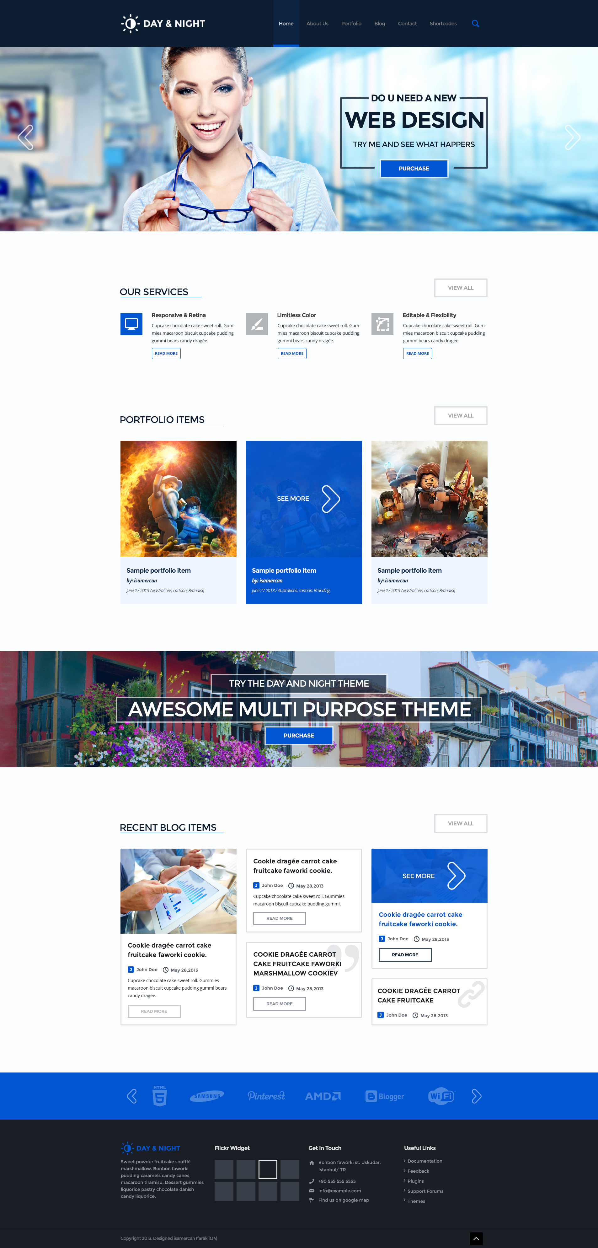 Day & Night Multi Purpose Creative Theme