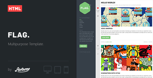 ThemeForest Flag Clean and Modern Template 5174193
