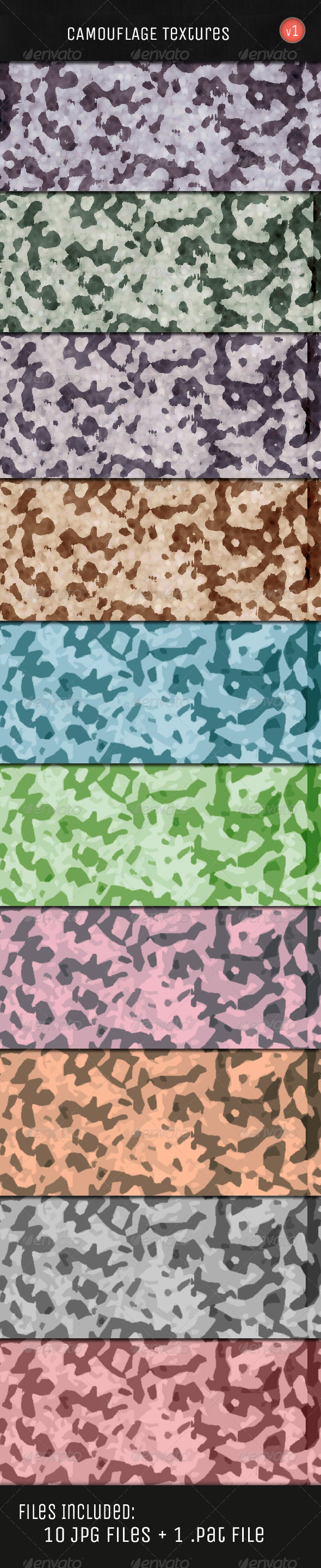 GraphicRiver Camouflage Textures 5174393