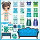 Paper Doll with Clothes Set - GraphicRiver Item for Sale