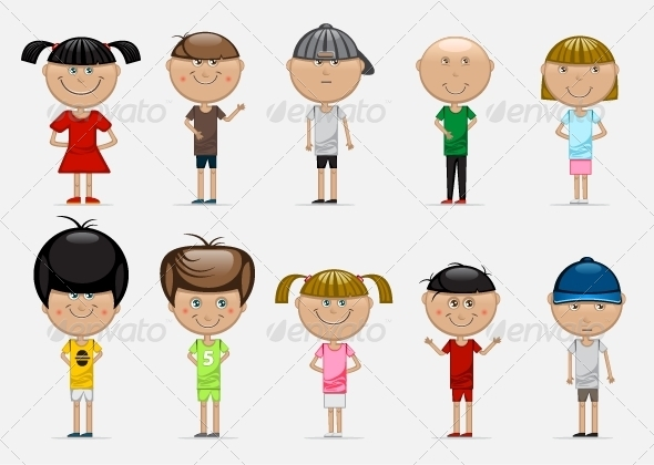 GraphicRiver Set of Children 5174462