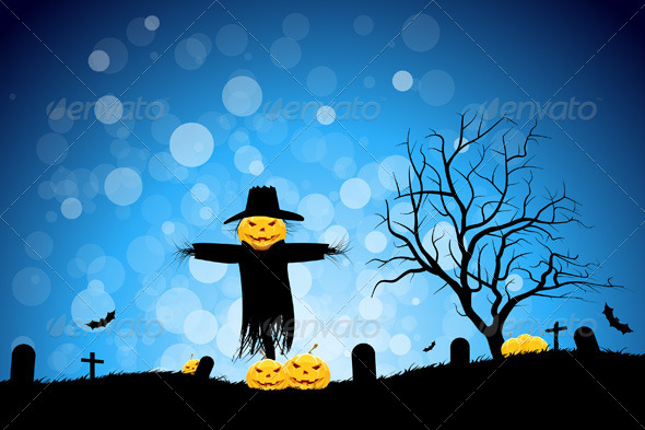 GraphicRiver Halloween Party Background 5174981