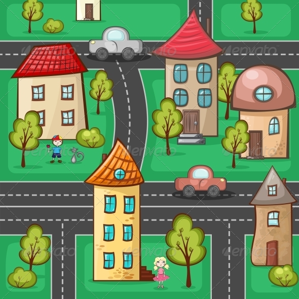 GraphicRiver Suburbs and Houses 5174985