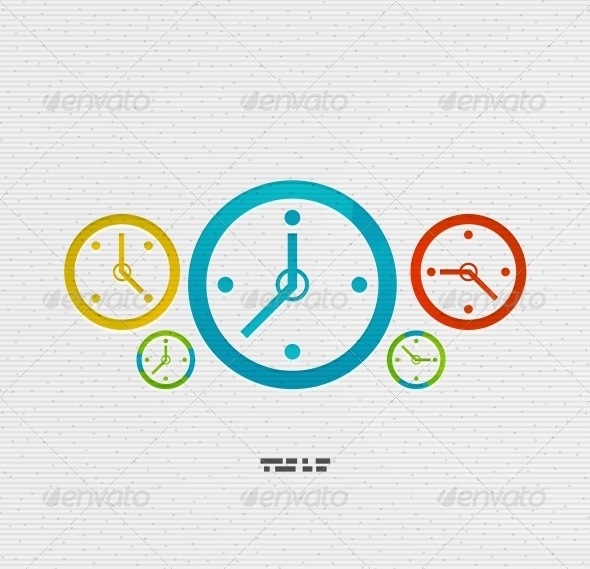 GraphicRiver Modern Paper Design Time Concept 5175105
